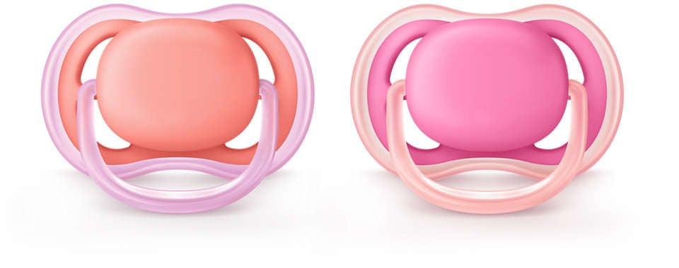 Philips Avent Ultra Air napp 6-18m, rosa
