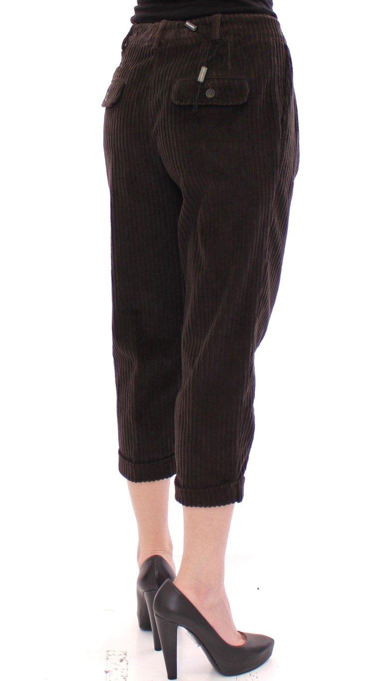 Dolce & Gabbana Women's Cotton Corduroys Cropped Trouser Brown GSS10067 - IT38 XS