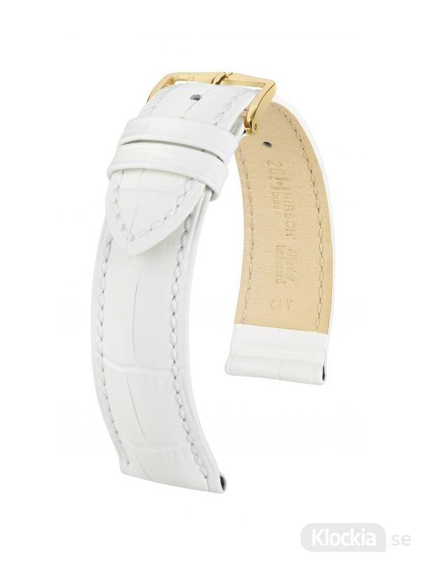 Klockarmband Hirch Duke 12mm Medium Vit-Guld