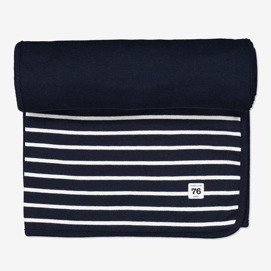 Teppe stripet mørkblå