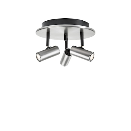 Cato Triospot Oxidgrå LED Dimbar
