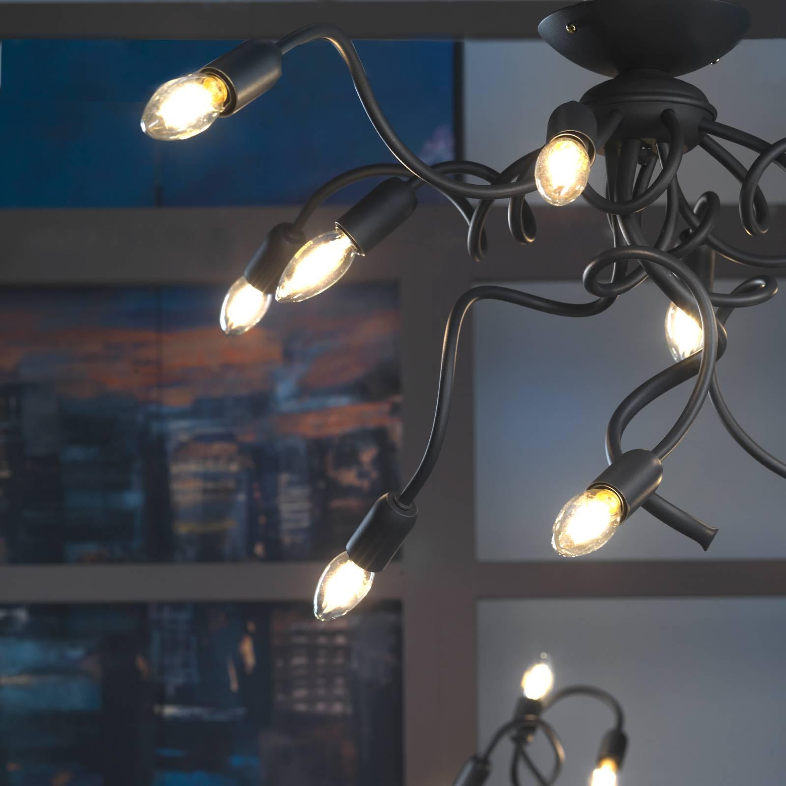 Kattovalo Sebastian, 1-lamppuinen, tummanharmaa