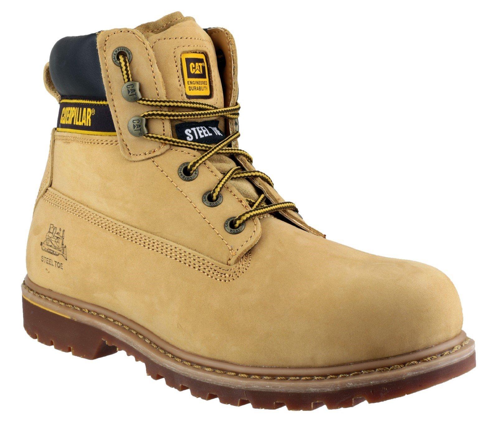 Caterpillar Men's Holton S3 Safety Boot Honey 16107 - Honey 6