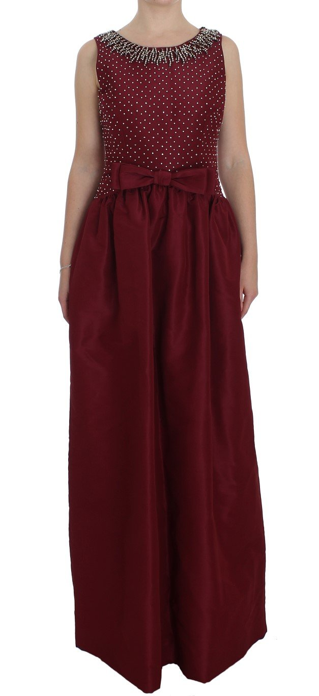 Dolce & Gabbana Women's Crystal Ball Gown Full Dress Bordeaux NOC10134 - IT44|L