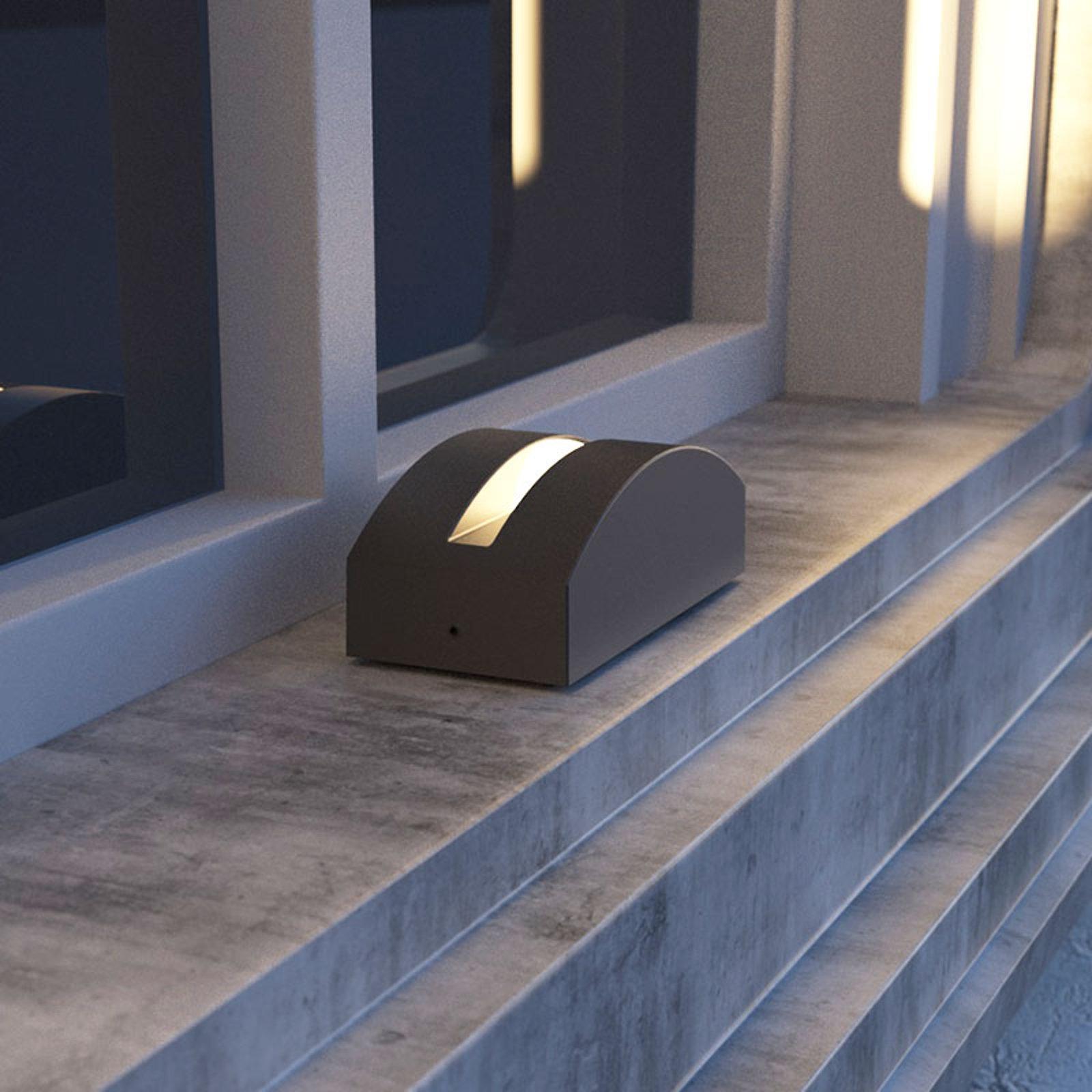 LED-utelampe Marka, mørkegrå aluminium