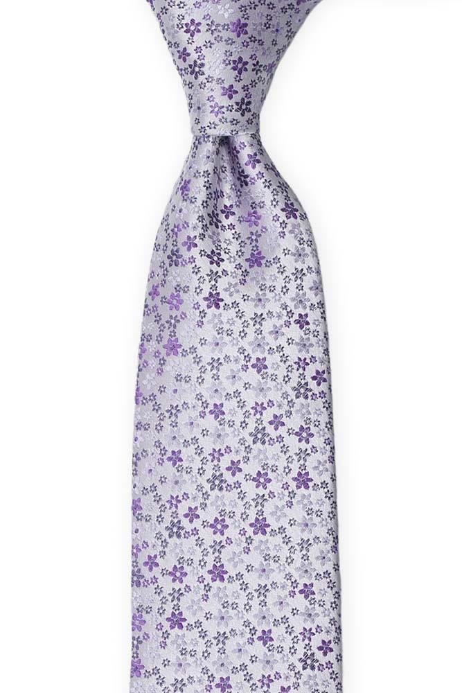 Silke Slips, Støvlilla med små blomster i to lillatoner, Lilla, Små blomster