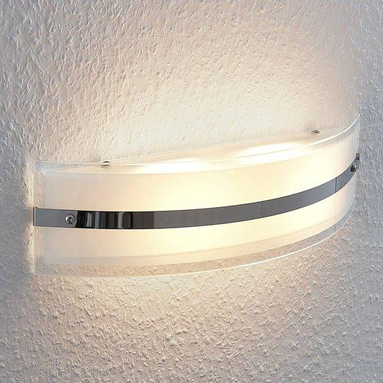 LED-seinävalaisin Zinka lasista, 37,5 cm