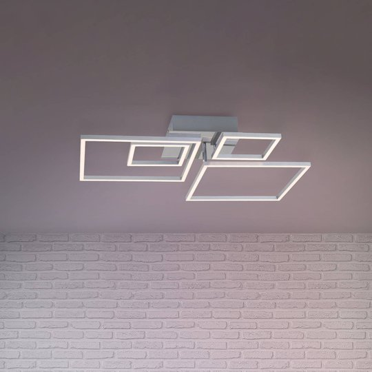 LED-taklampe Frames 2 små / 2 store kvadrater