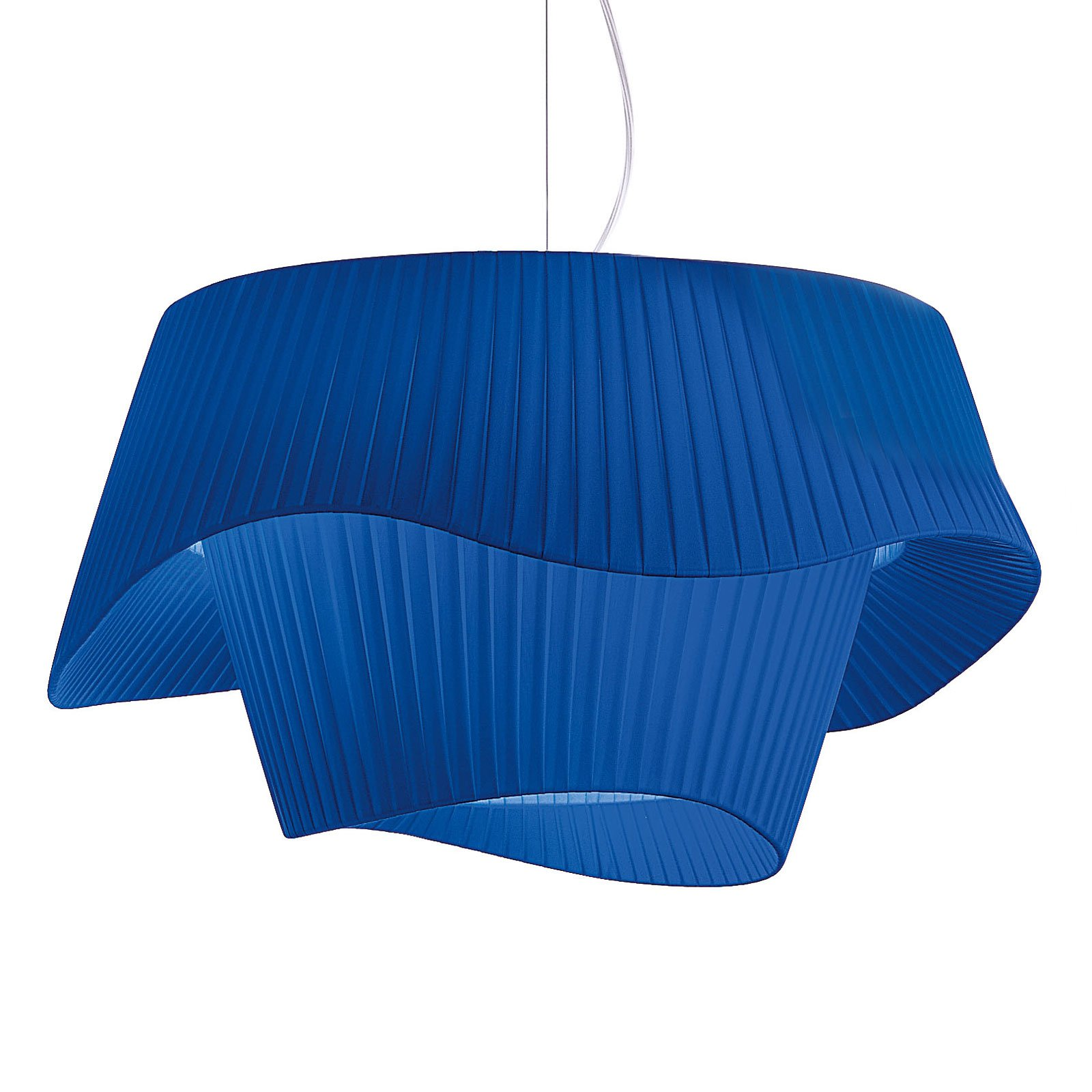 Modo Luce Cocó tekstil-hengelampe Ø 80 cm blå