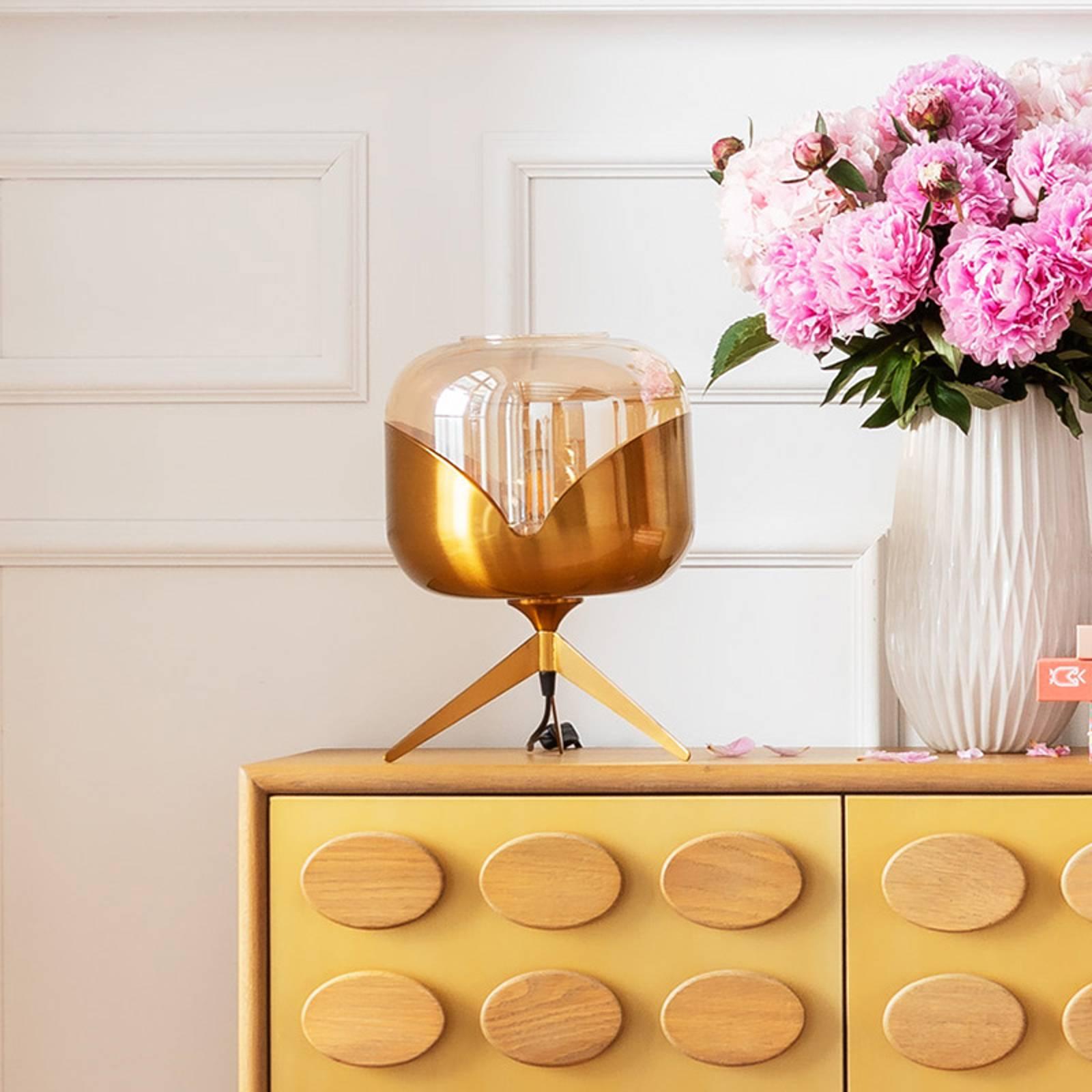 KARE Golden Goblet Ball -pöytävalaisin, messinki