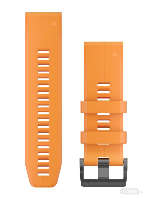Garmin Armband 26mm QuickFit Solar Flare Orange Silicone 010-12741-03