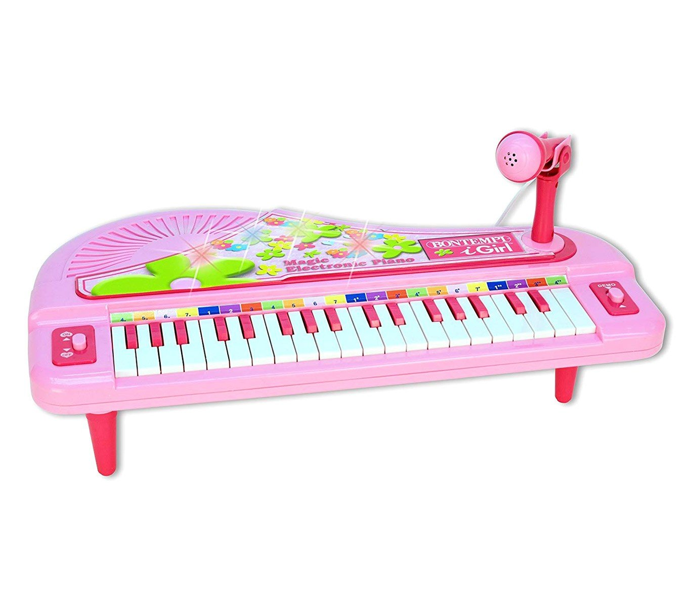 Bontempi - Small piano w / microphone and light effects (102071)