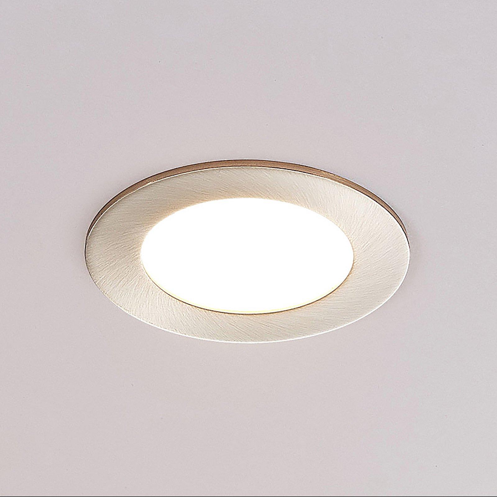 ELC Jupiter LED-downlight, 3-er sett i nikkel