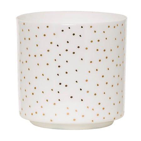 Lyslykt Hvit Porselen 7x7 cm