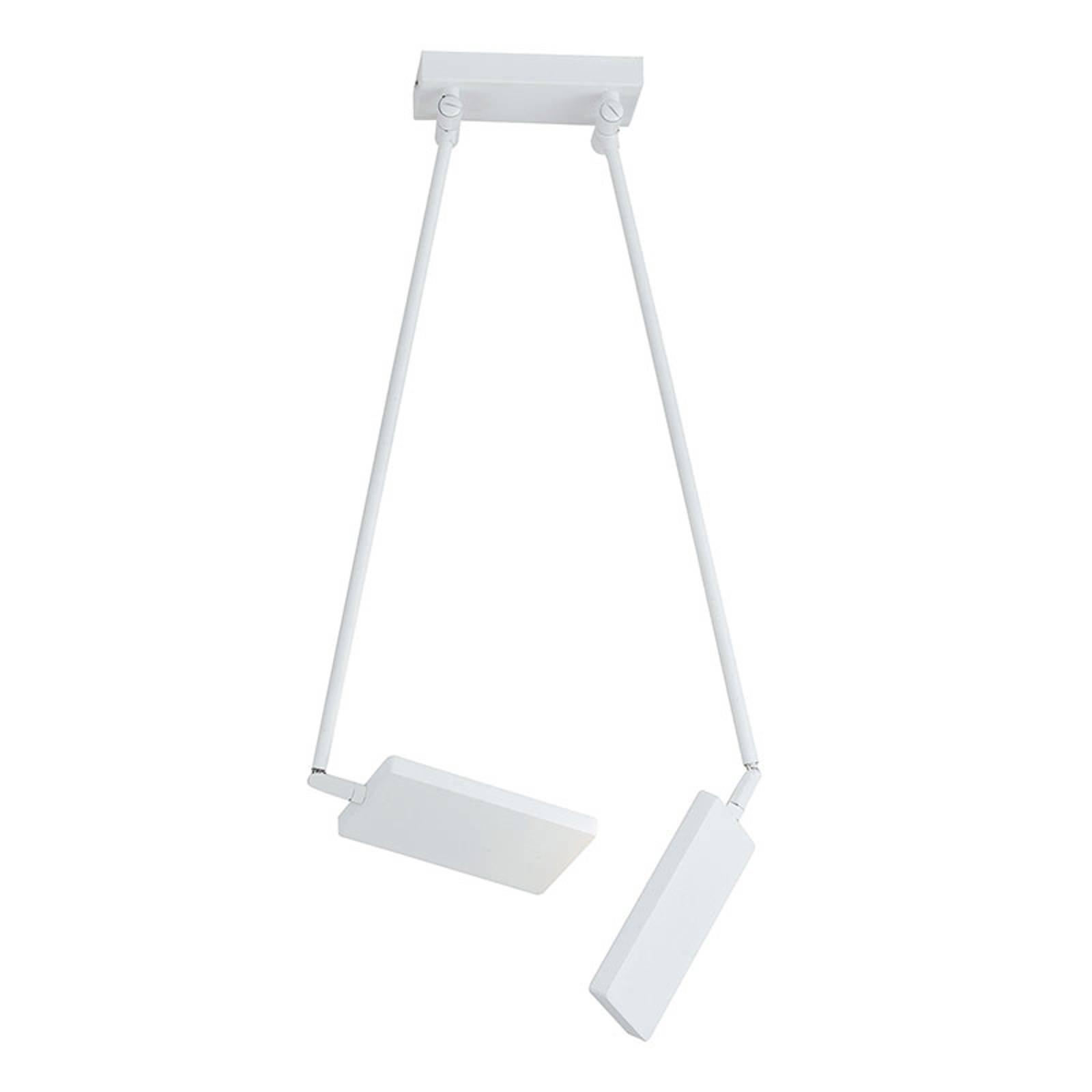 LED-taklampe Book, hvit