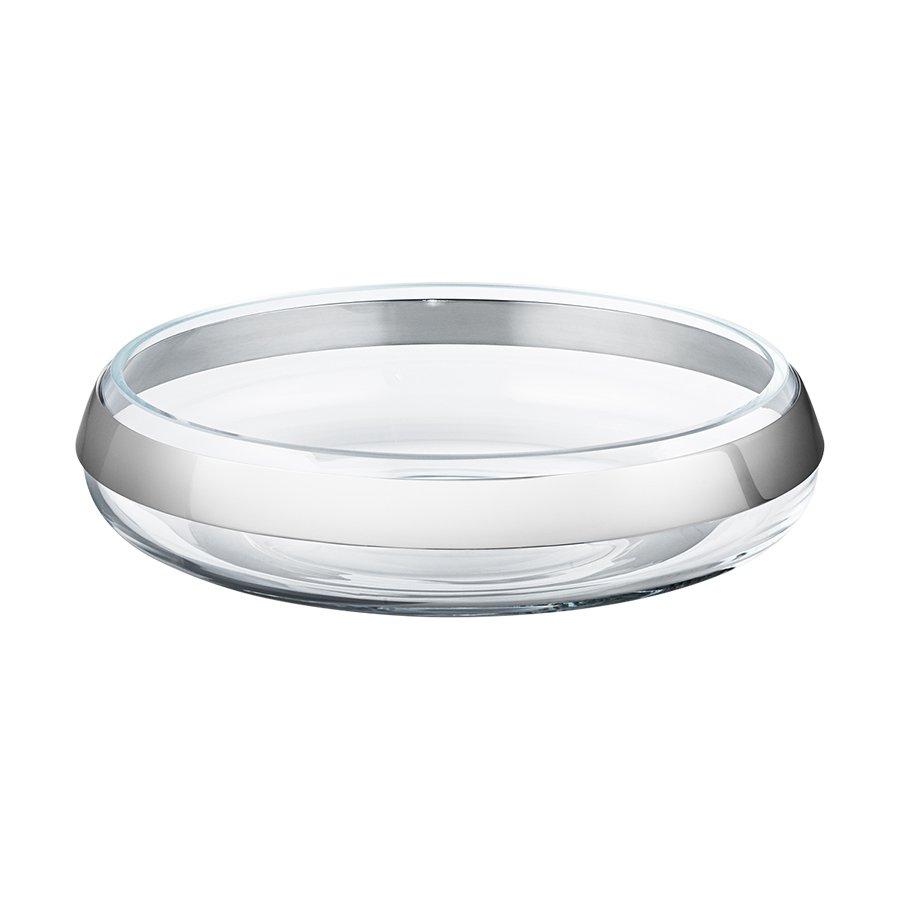 Georg Jensen Duo Rund Skål Rustfritt Stål Glass Medium