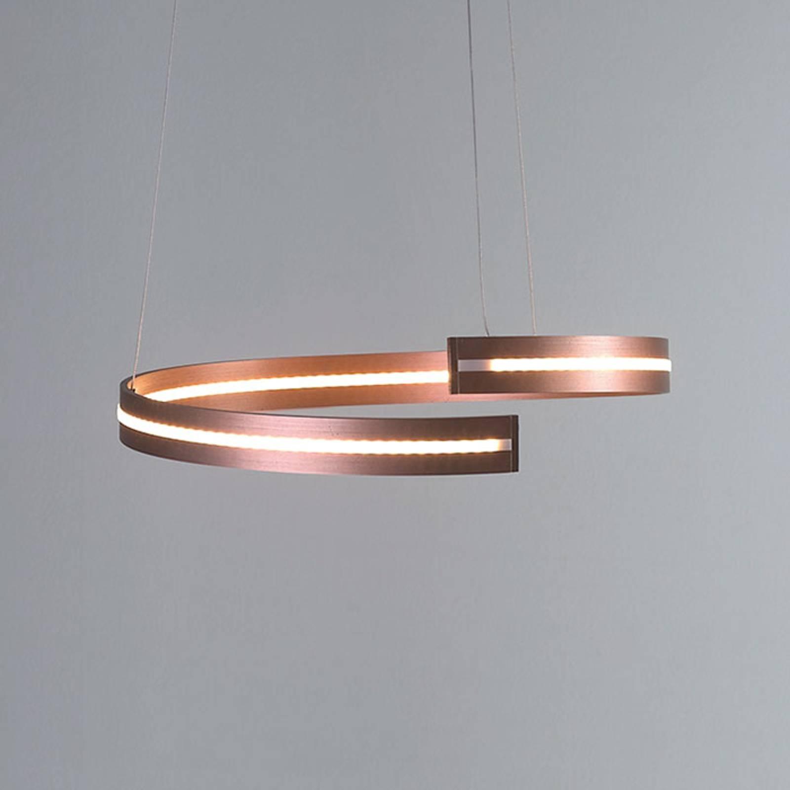 Bopp Break - LED-riippuvalaisin, 40 cm, ruusukulta