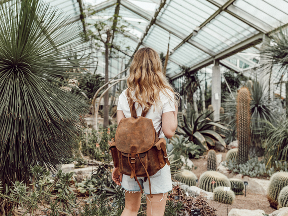 Women's Leather Backpack Large