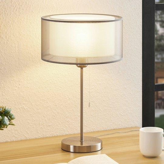 Lindby Taxima bordlampe, grå