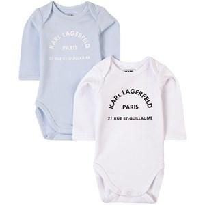 Karl Lagerfeld Kids 2-Pack Baby Bodys Blå 3 mån