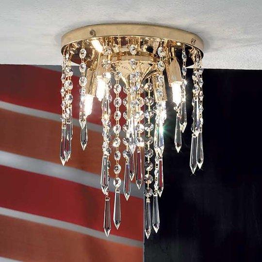 Kattovalaisin PHOEBE 5-lamppuinen, kullattu