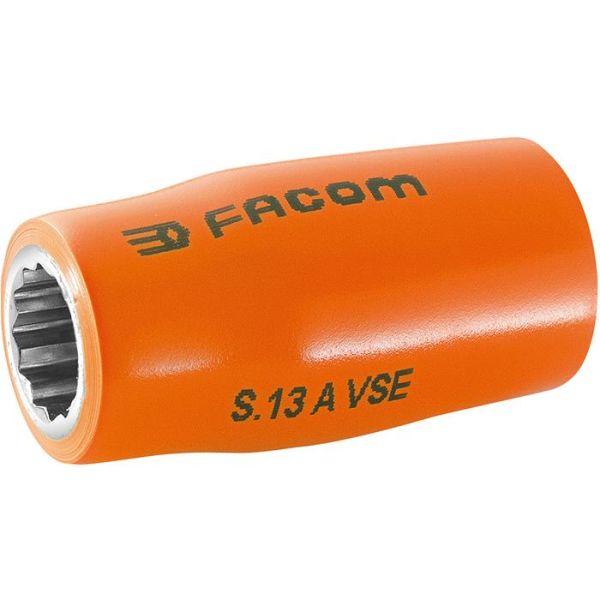 """Facom S.13AVSE Hylse 13mm, 1/2"""", 12k, 1000V"""