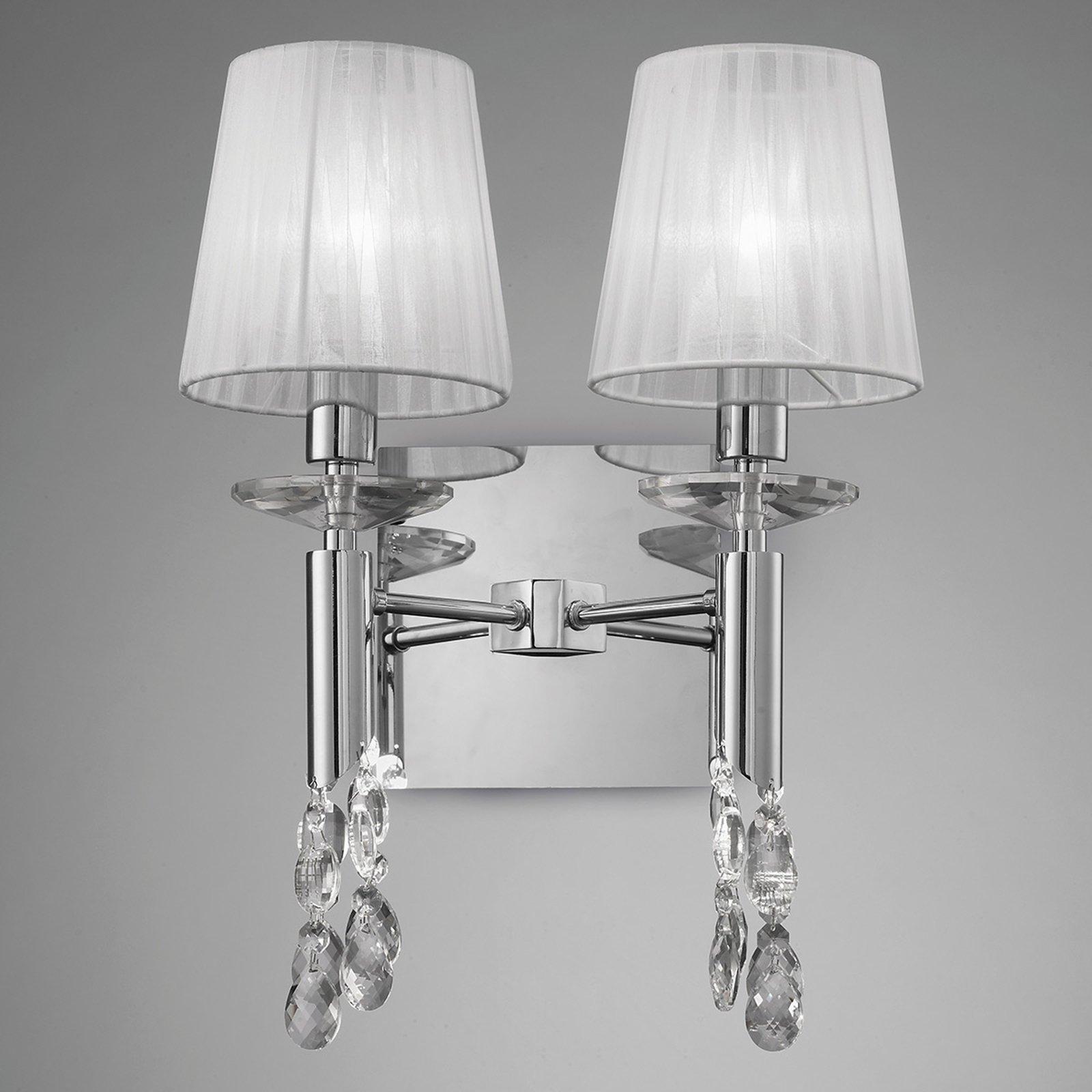 Vegglampe Lilja - med 2 silkeskjermer
