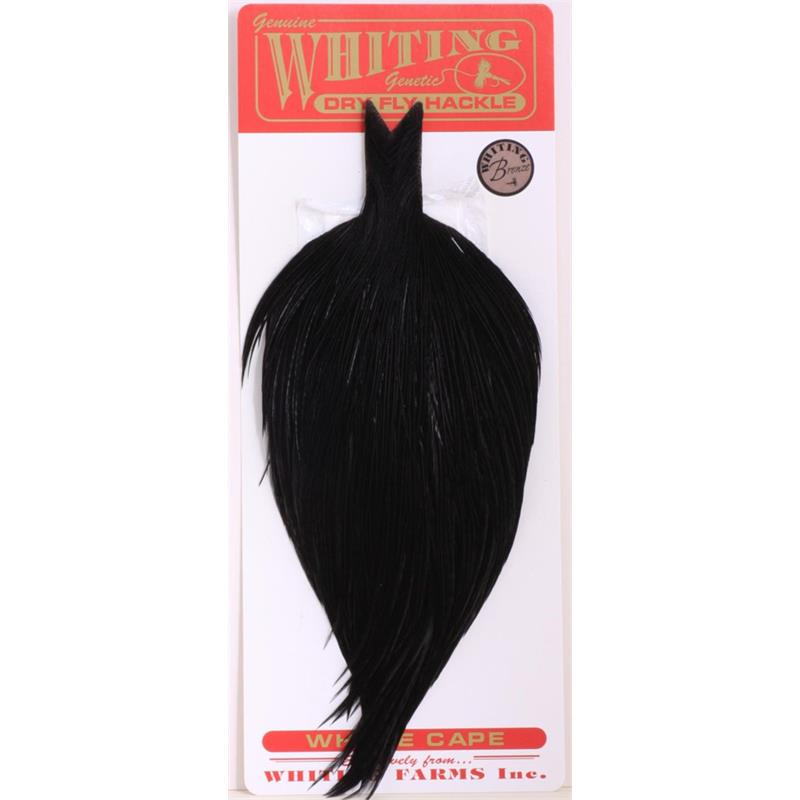 Whiting Dry Fly Cape - Black Bronsegradering