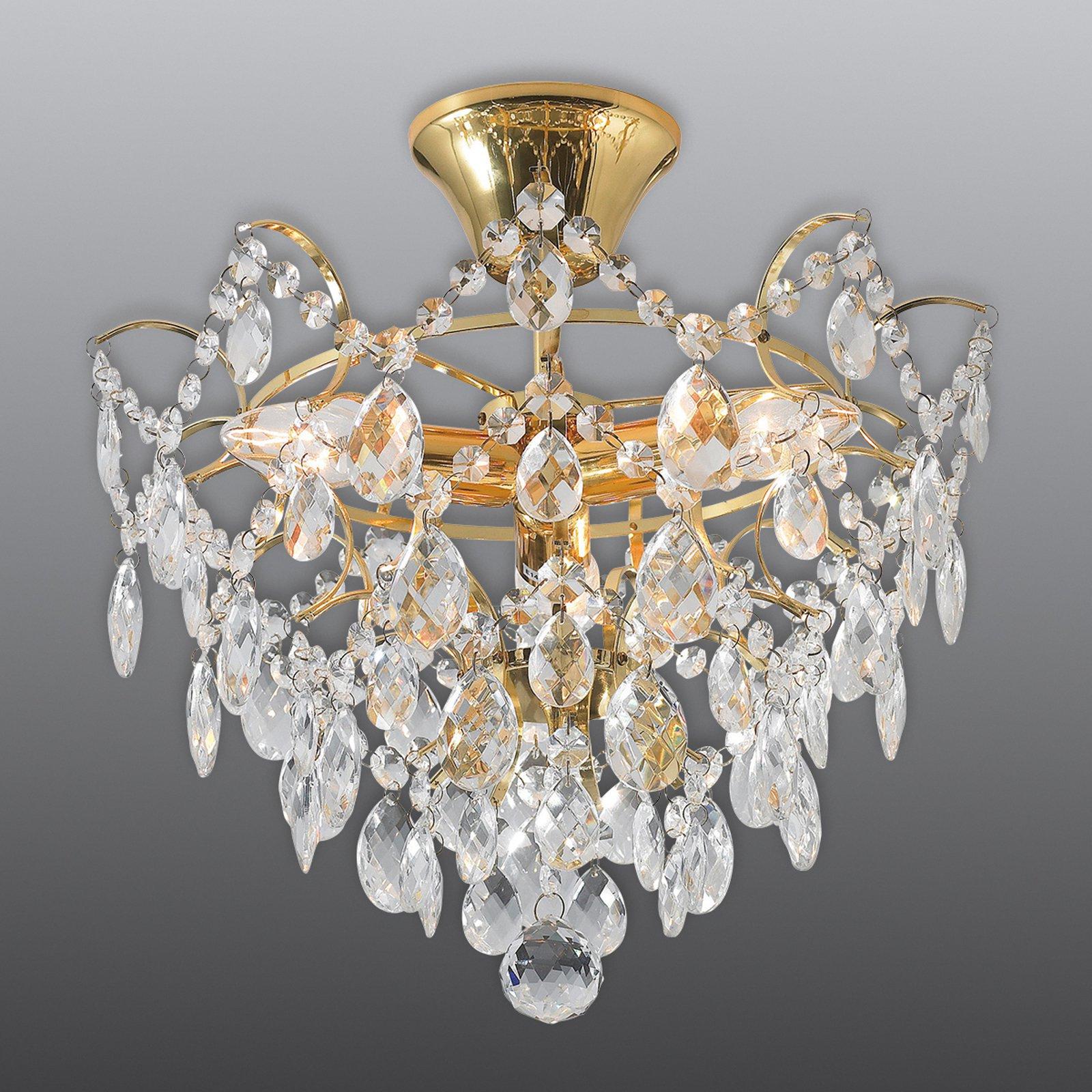 Taklampe Rosendal Ø 36 cm gull