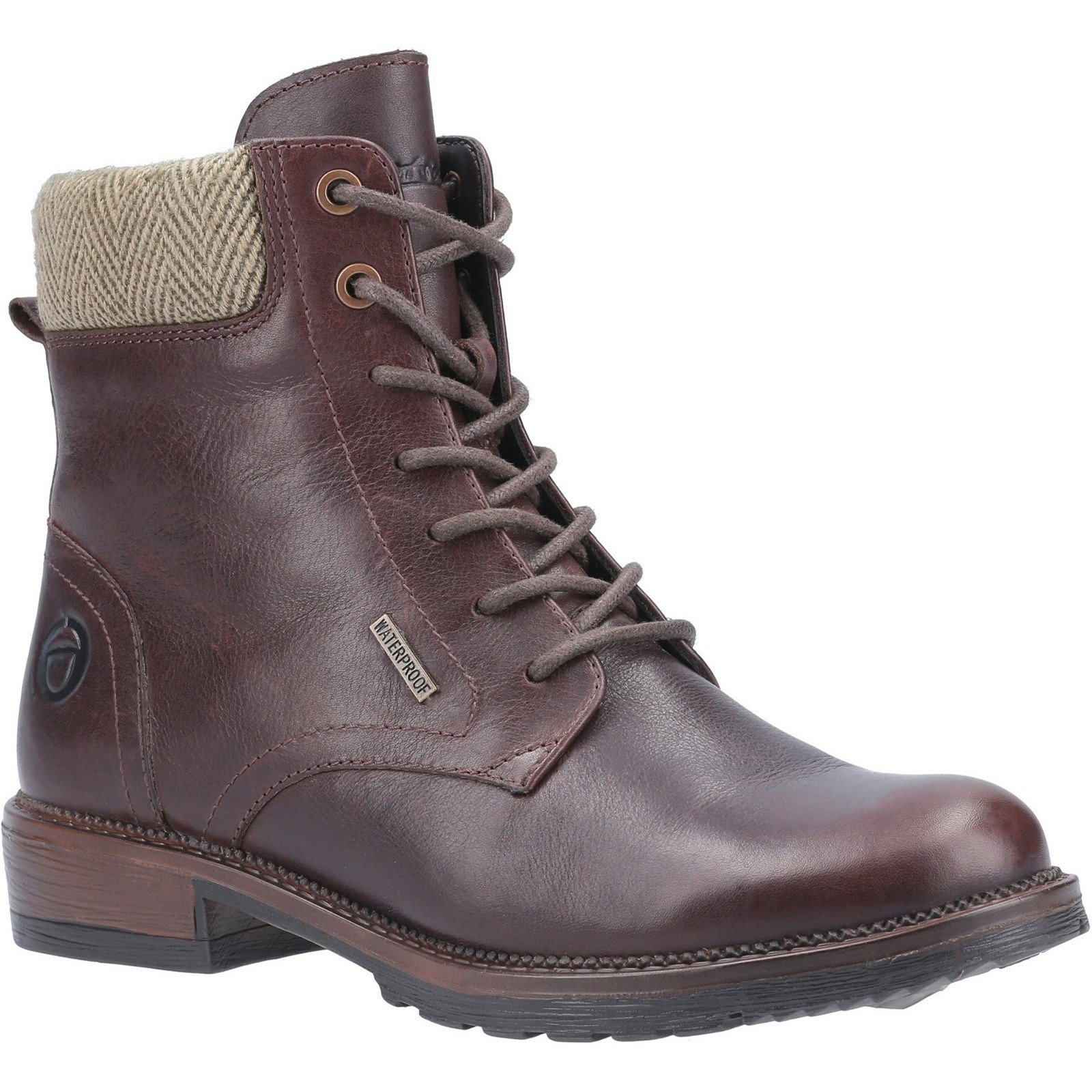 Cotswold Women's Minety High Top Lace Up Ankle Boot Brown 29249 - Brown 3