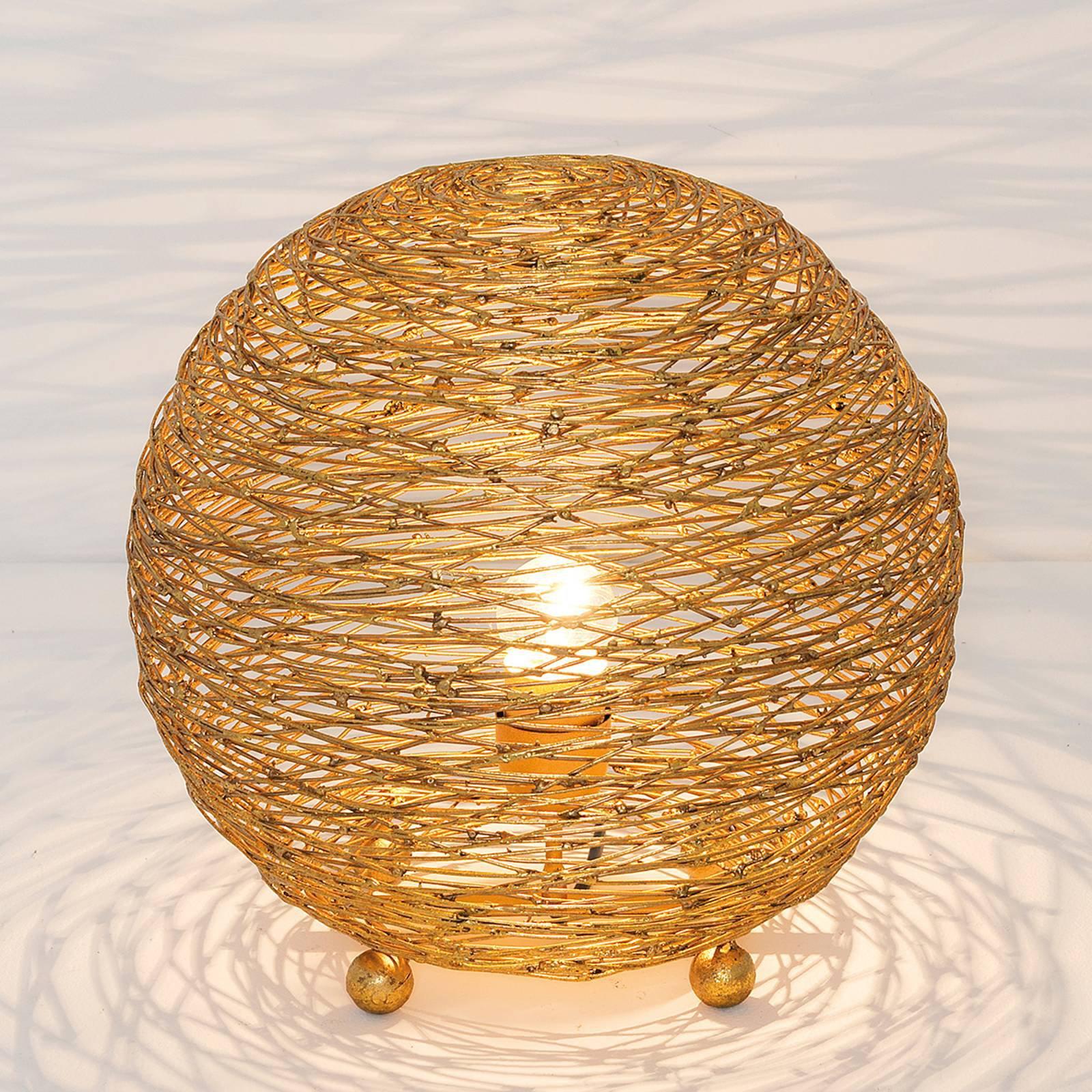 Bordlampe Campano, gull, 30 cm