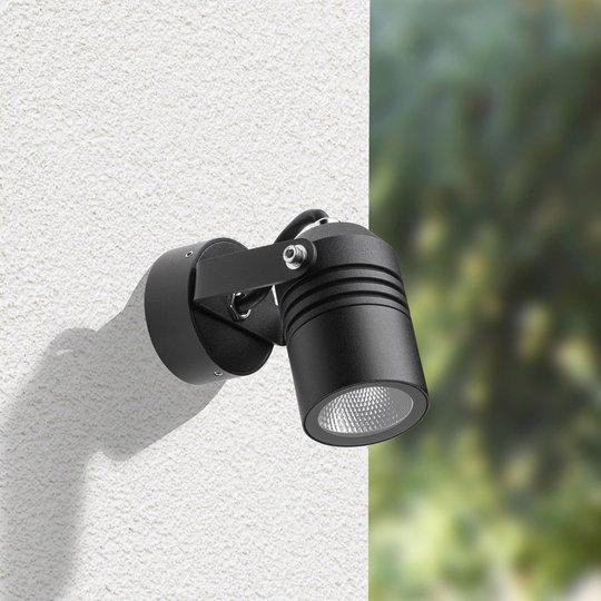 Utendørs LED-vegglampe 5019, svart, IP65