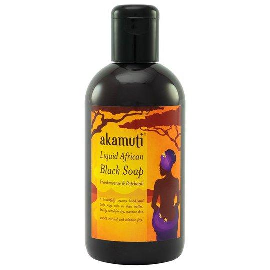 Akamuti Liquid African Black Soap Frankincense & Patchouli, 250 ml