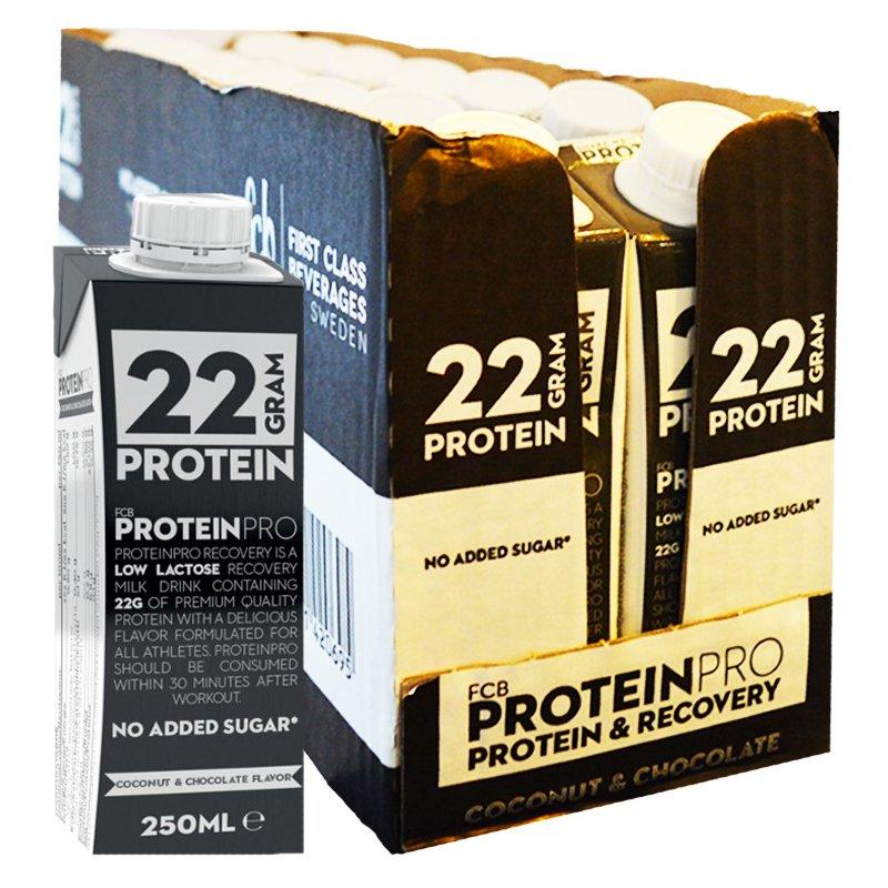 """Laatikollinen proteiinipirtelöitä """"Coconut & Chocolate"""" 14 x 250 ml - 54% alennus"""