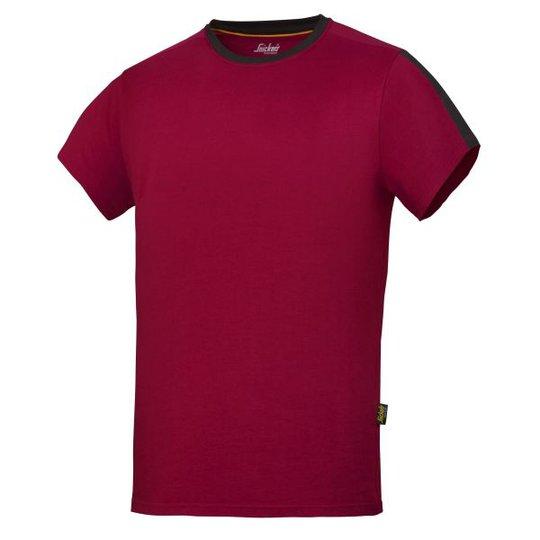 Snickers 2518 AllroundWork T-paita Punainen XS