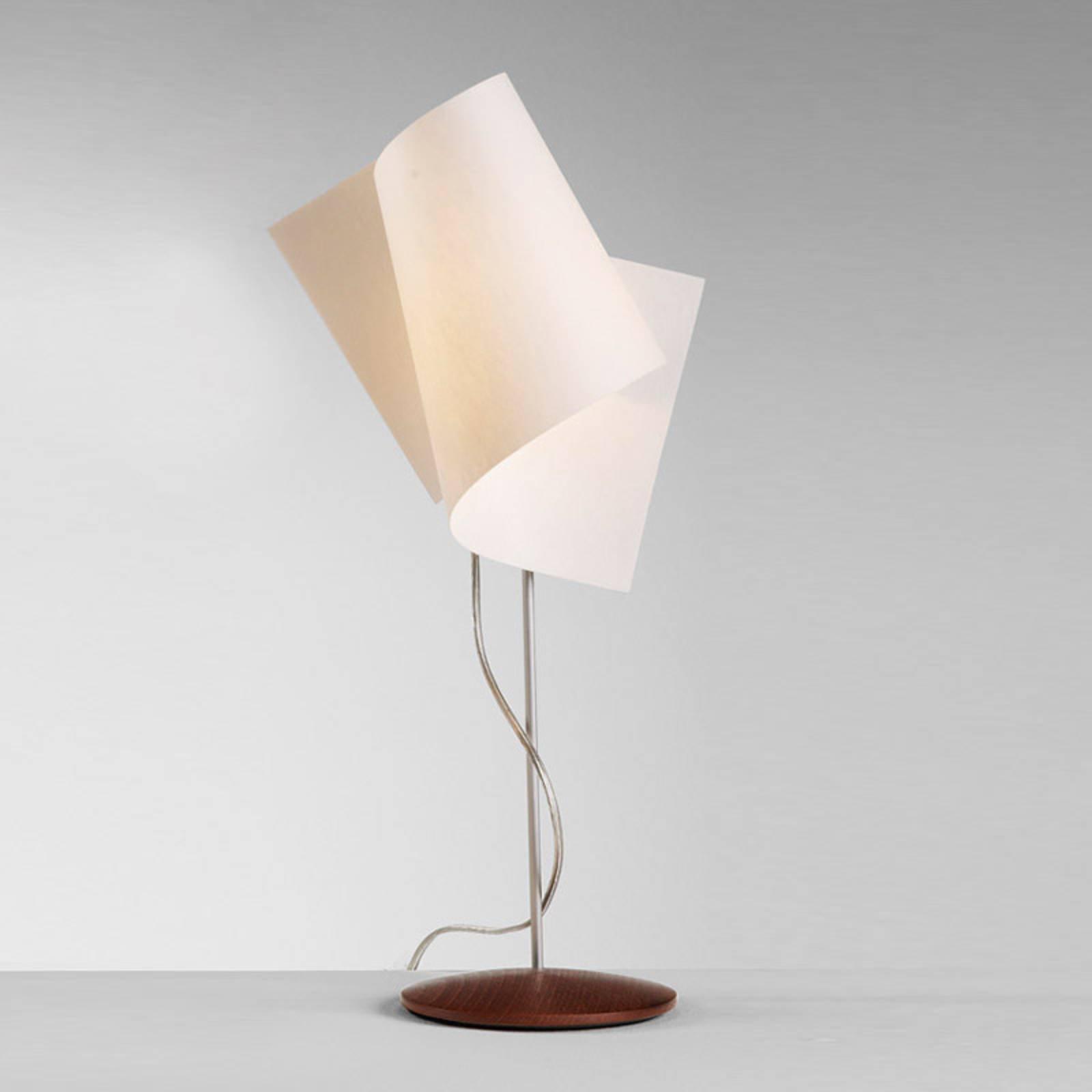 Interessant Loop bordlampe i nøttetre
