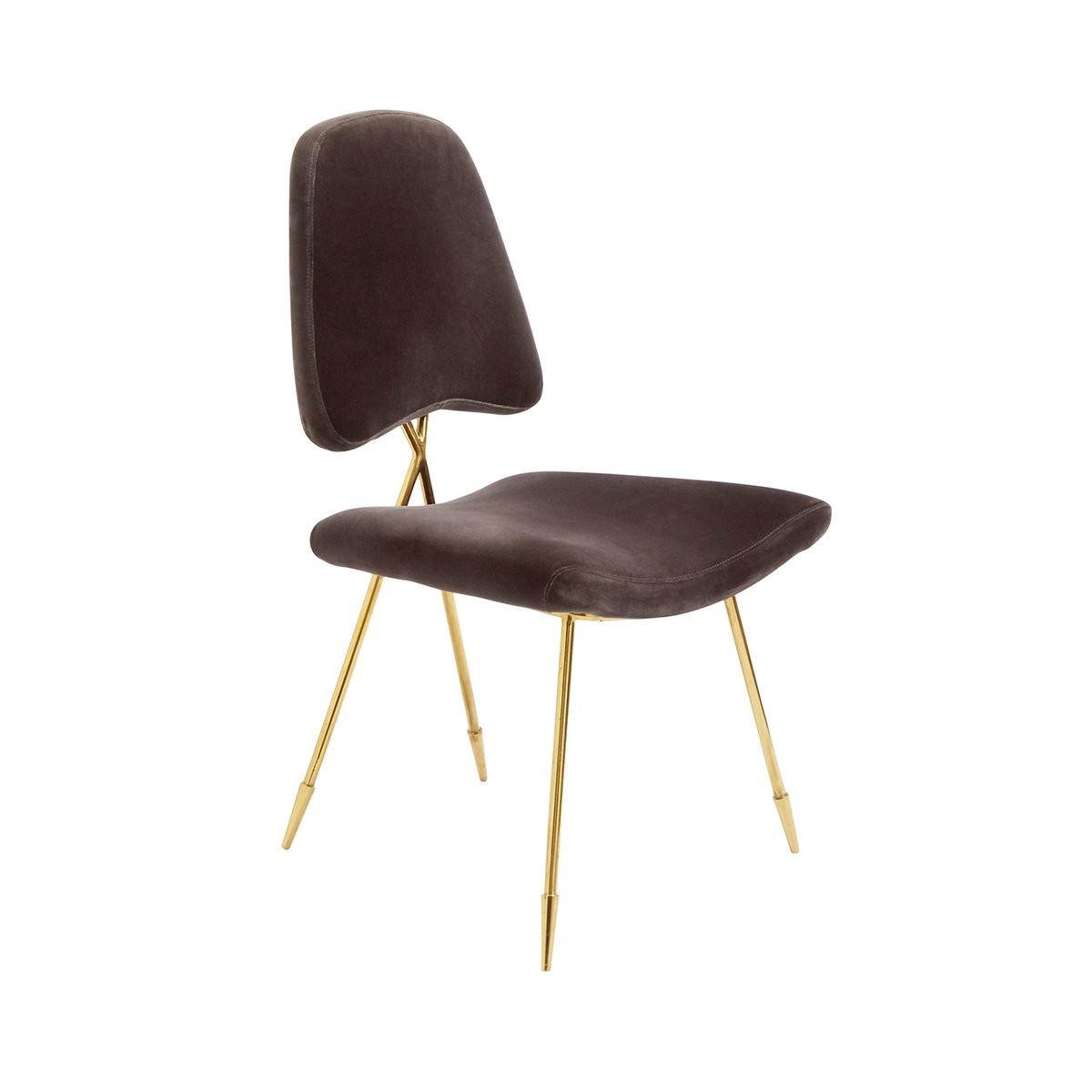 Jonathan Adler I Maxime Dining Chair I Rialto Charcoal
