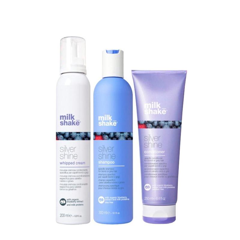 milk_shake - Silver Shine Shampoo 300 ml + Conditioner 250 ml + Whipped Cream 200 ml