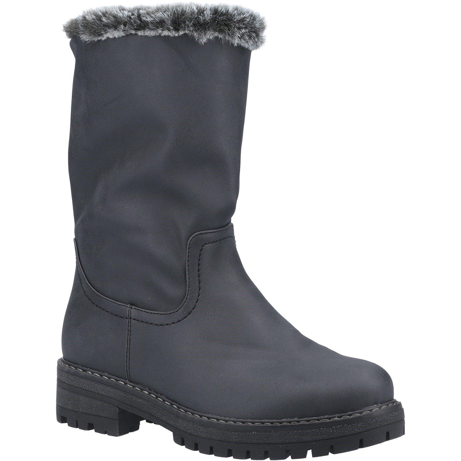 Divaz Women's Nadia Fur Lined Boot Various Colours 33025 - Black 3