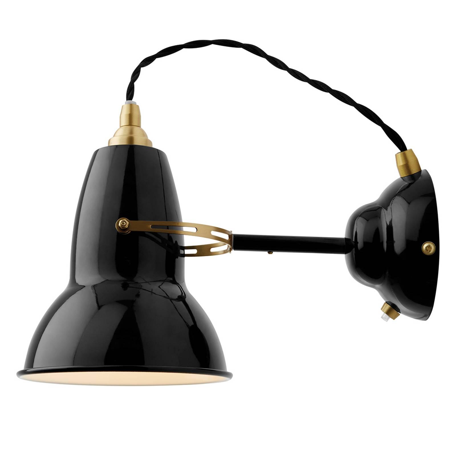 Anglepoise Original 1227 Brass -seinälamppu musta