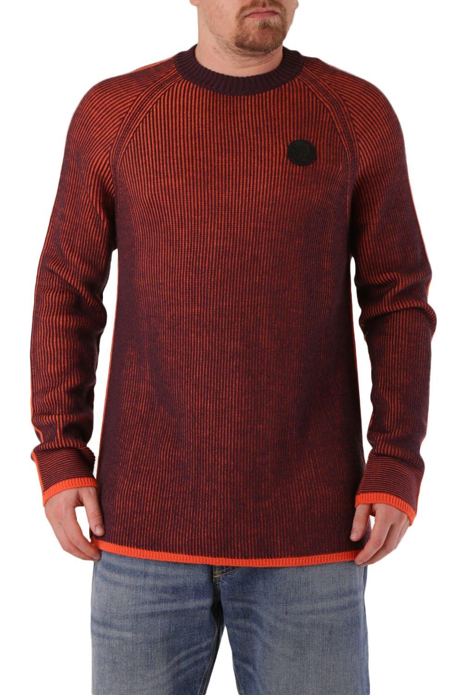Diesel Men's Sweatshirt Various Colours 312586 - orange-2 L