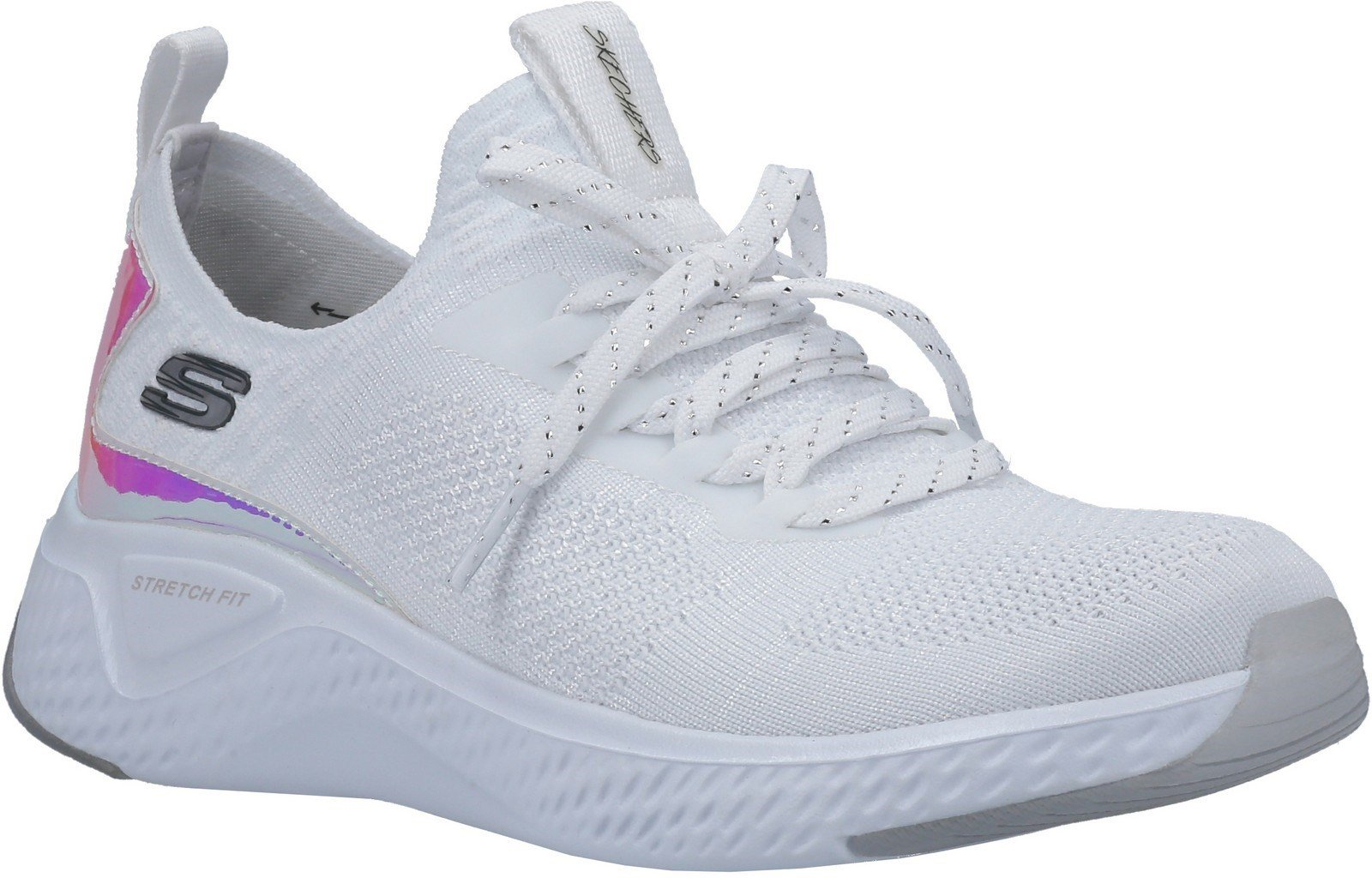Skechers Women's Solar Fuse Gravity Experience Trainer Various Colours 30307 - White/Silver 3