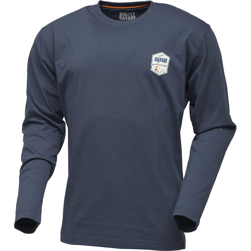 Savage Gear Rex Tee Long XL Langermet t-shirt, blå - Simply Savage