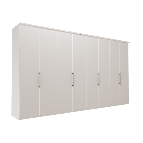 Garderobe Atlanta - Hvit 400 cm, 216 cm, Med gesims