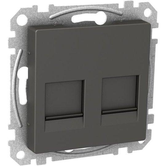 Schneider Electric WDE003378 Keskiölevy 2x Keystone-liitin Antrasiittiharmaa
