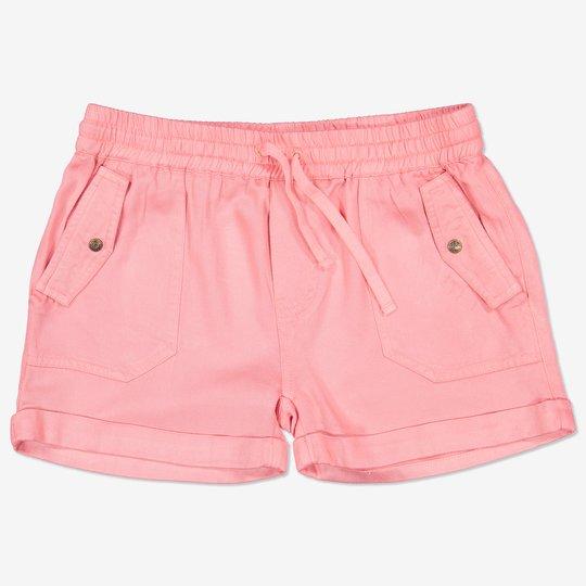 Vevd shorts med knytebånd rosa