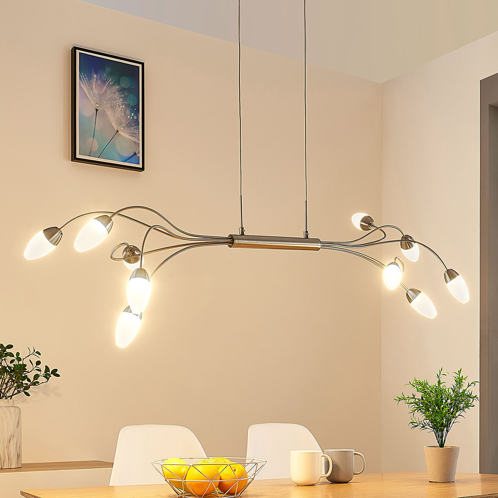 LED-riippuvalaisin Deyan, 10-lamppuinen