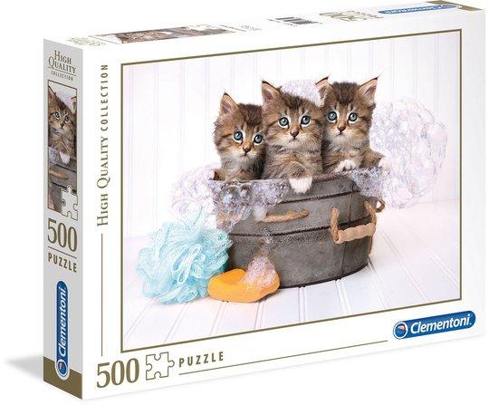 Clementoni Puslespill Badende Katter 500 Brikker