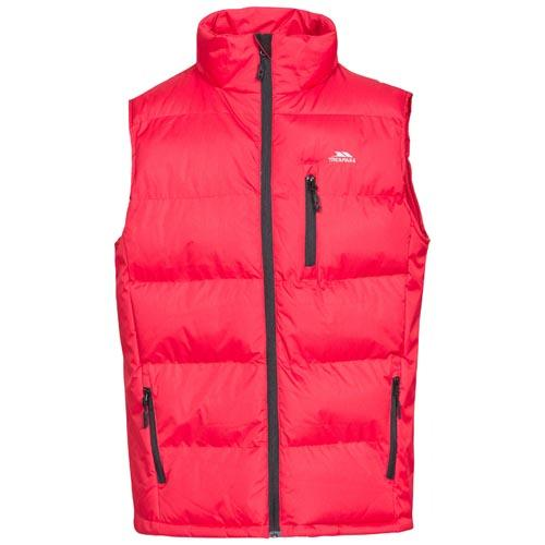 Trespass Men's Padded Gilet Various Colours Clasp - Red L
