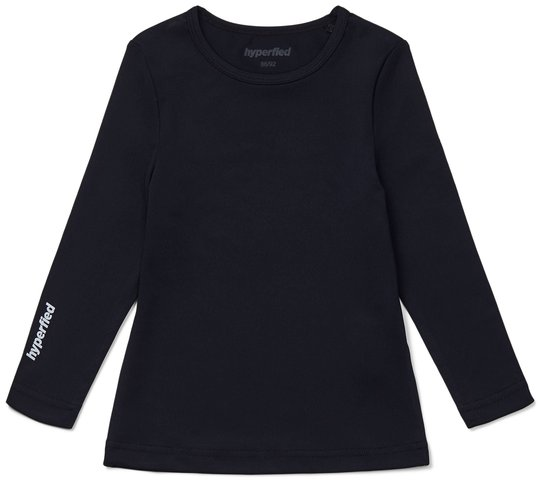 Hyperfied Long Sleeve Logo Top, Anthracite 86-92